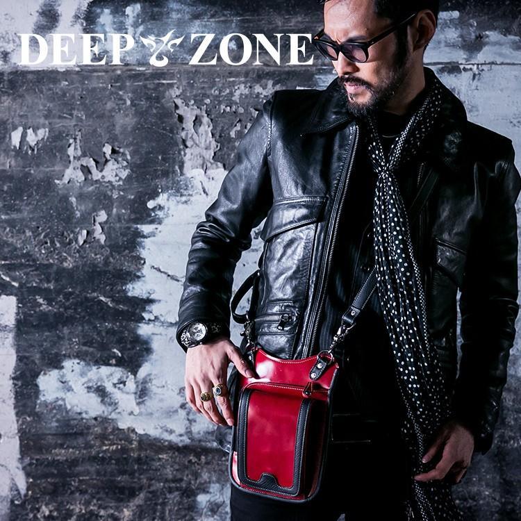 ヒップバッグ ショルダーバッグ メンズ 本革 レザー 2WAY レザー イタリアンレザー レッド Deep Zone プレゼント ギフト|cowbell