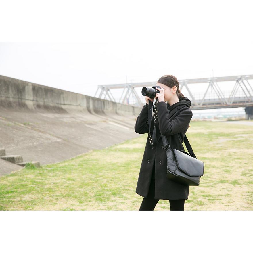 ショルダーバッグ カメラバッグ メンズ レディース ユニセックス 本革 レザー レザー シュリンクレザー Deep Zone プレゼント ギフト|cowbell|02