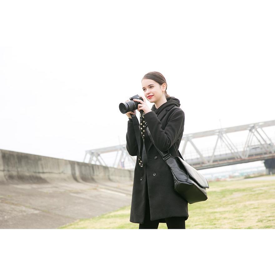 ショルダーバッグ カメラバッグ メンズ レディース ユニセックス 本革 レザー レザー シュリンクレザー Deep Zone プレゼント ギフト|cowbell|03