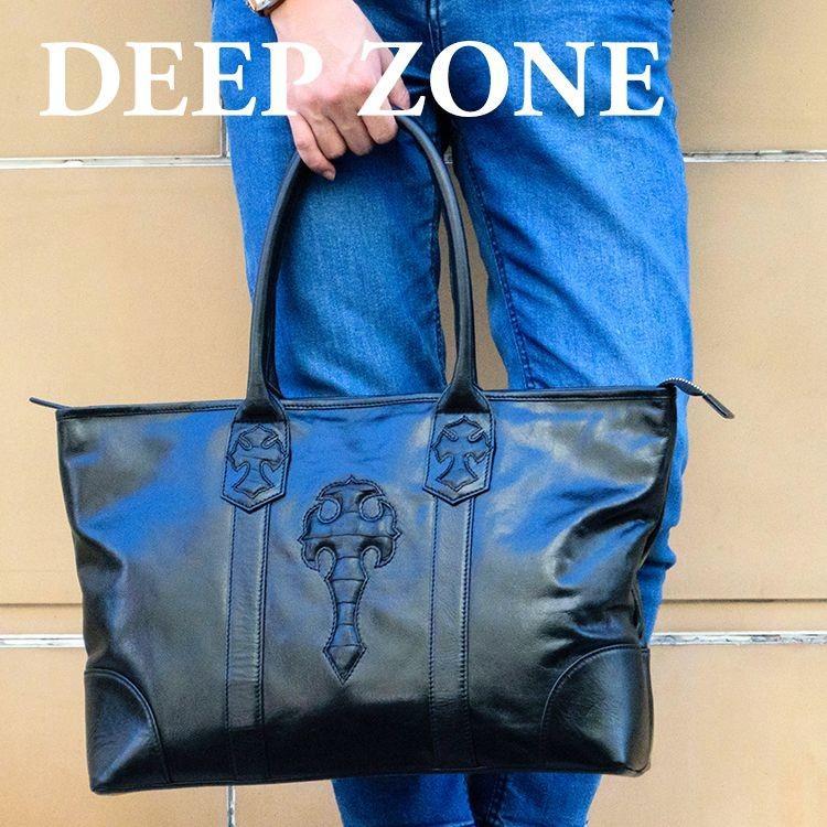 トートバッグ メンズ カジュアル ビジネス 本革 レザー イタリアンレザー Deep Zone プレゼント ギフト cowbell