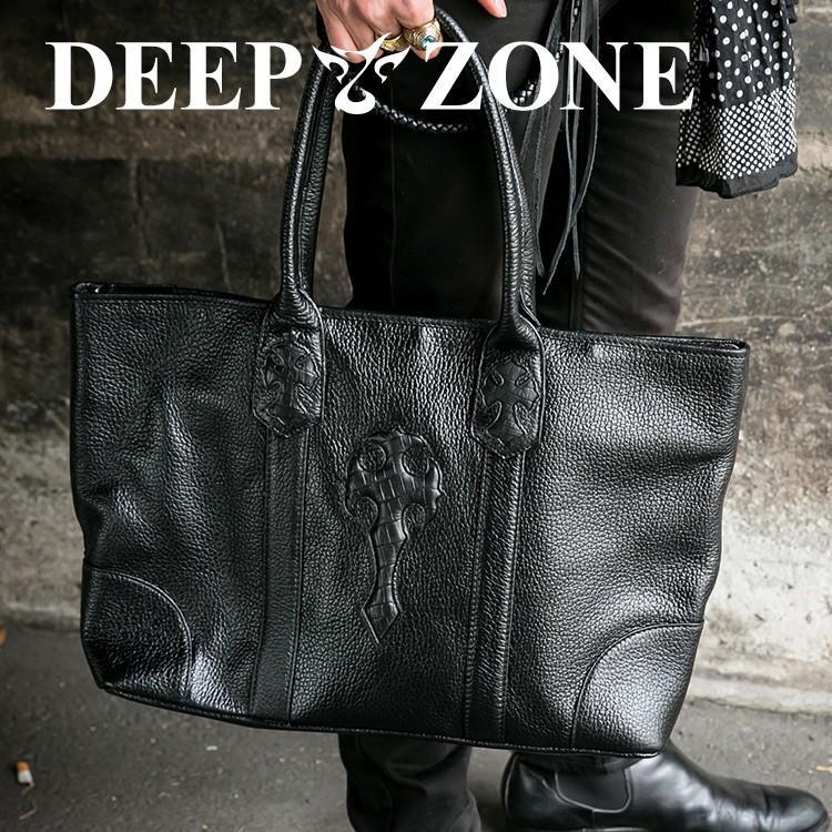 トートバッグ メンズ カジュアル ビジネス 本革 レザー Deep Zone プレゼント ギフト cowbell