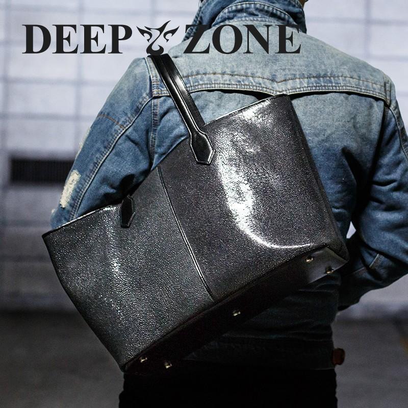 トートバッグ メンズ カジュアル ビジネス 本革 レザー エイ スティングレイ 革 Deep Zone プレゼント ギフト cowbell