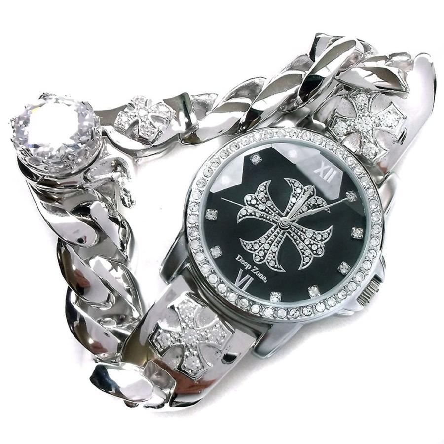 腕時計 メンズ カジュアル ビジネス ブラス チェーンクリップ ブレスレット ジルコニアクロス文字盤 ウォッチ B001 プレゼント ギフト cowbell