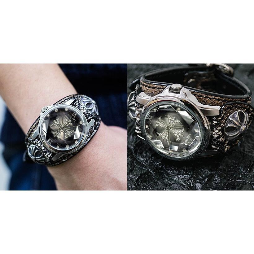 メンズ腕時計  カジュアル ビジネス ホワイトレザーブレスウォッチ 本革 レザー ベルト牛革 ジルコニアクロス ホワイトメタルコンチョ プレゼント ギフト|cowbell|16