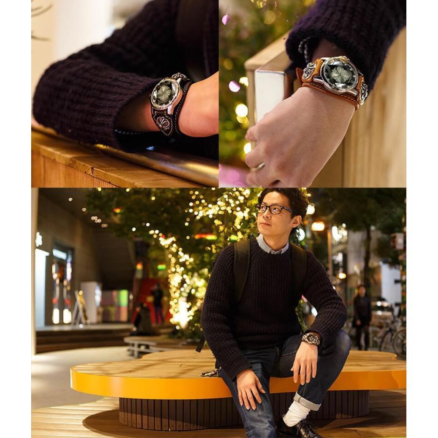 メンズ腕時計  カジュアル ビジネス ホワイトレザーブレスウォッチ 本革 レザー ベルト牛革 ジルコニアクロス ホワイトメタルコンチョ プレゼント ギフト|cowbell|17