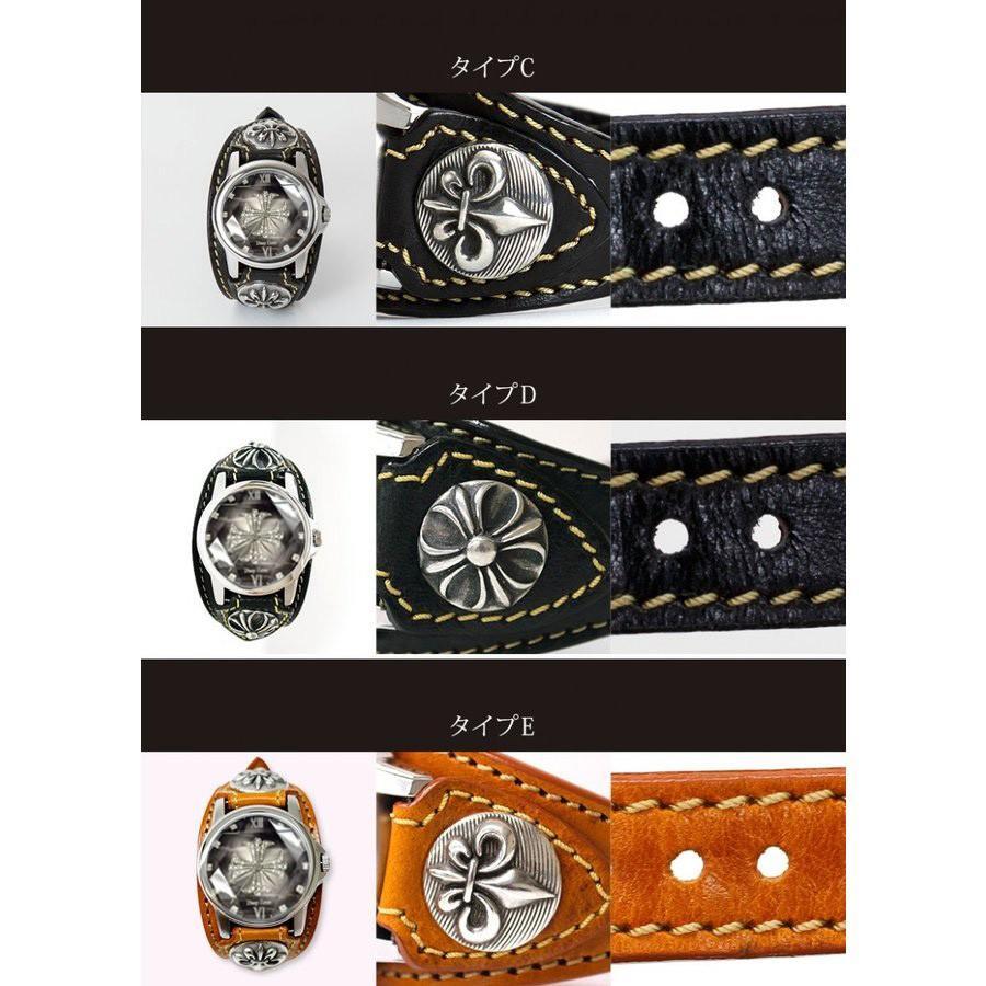 メンズ腕時計  カジュアル ビジネス ホワイトレザーブレスウォッチ 本革 レザー ベルト牛革 ジルコニアクロス ホワイトメタルコンチョ プレゼント ギフト|cowbell|03