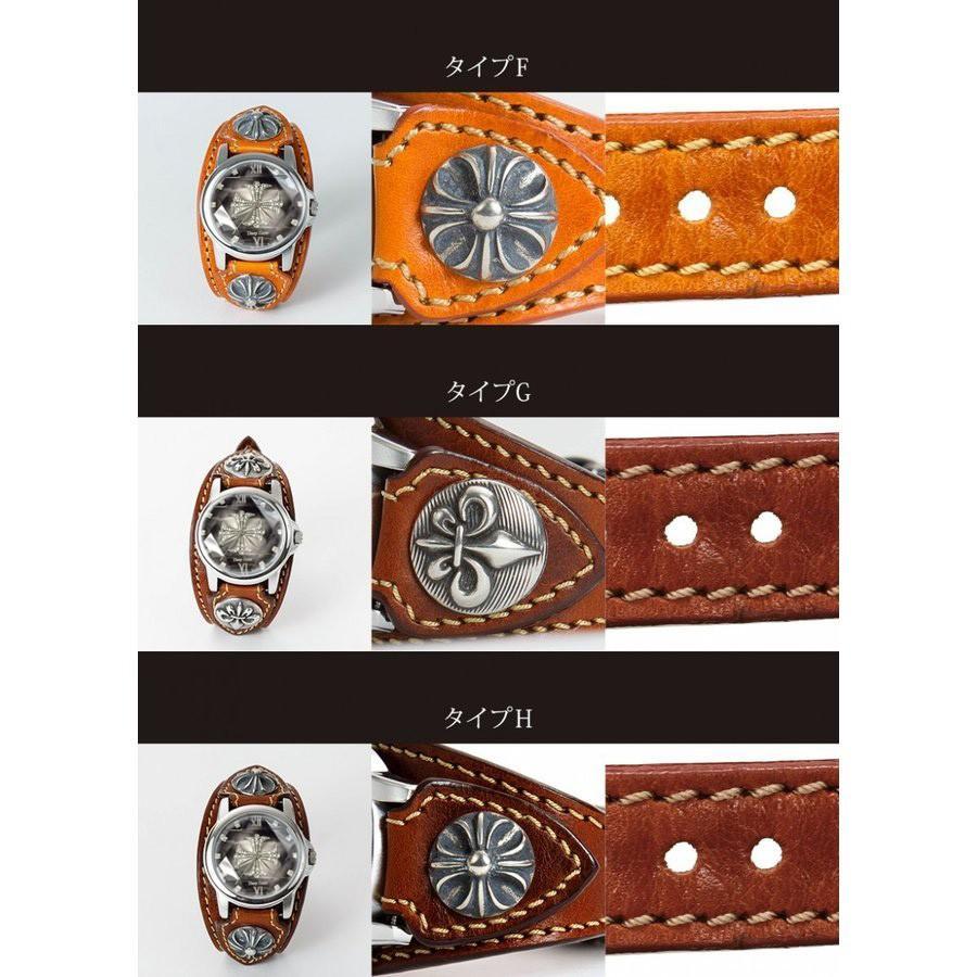 メンズ腕時計  カジュアル ビジネス ホワイトレザーブレスウォッチ 本革 レザー ベルト牛革 ジルコニアクロス ホワイトメタルコンチョ プレゼント ギフト|cowbell|04