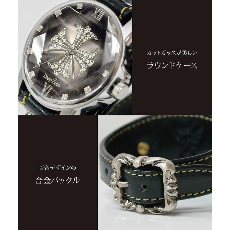 メンズ腕時計  カジュアル ビジネス ホワイトレザーブレスウォッチ 本革 レザー ベルト牛革 ジルコニアクロス ホワイトメタルコンチョ プレゼント ギフト|cowbell|06