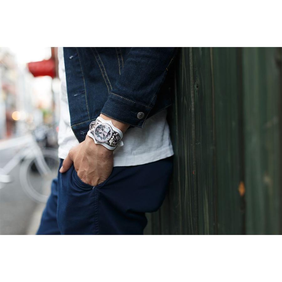 腕時計 ブレスウォッチ メンズ カジュアル ビジネス ジルコニアクロス パイソンレザー スネークレザー 蛇 DEEP ZONE プレゼント ギフト|cowbell|06