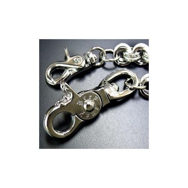 ウォレットチェーン レザーウォレット メタリックメタルダブルリングデザイン ウォレットチェーン [WHC-046] プレゼント ギフト|cowbell|04