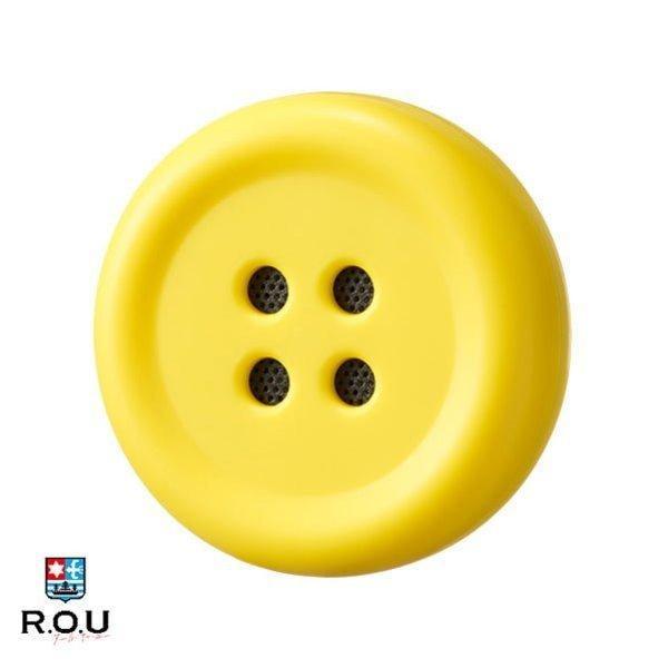 ペチャットPechatぬいぐるみにつけるボタン型スピーカーイエロー|cox-online