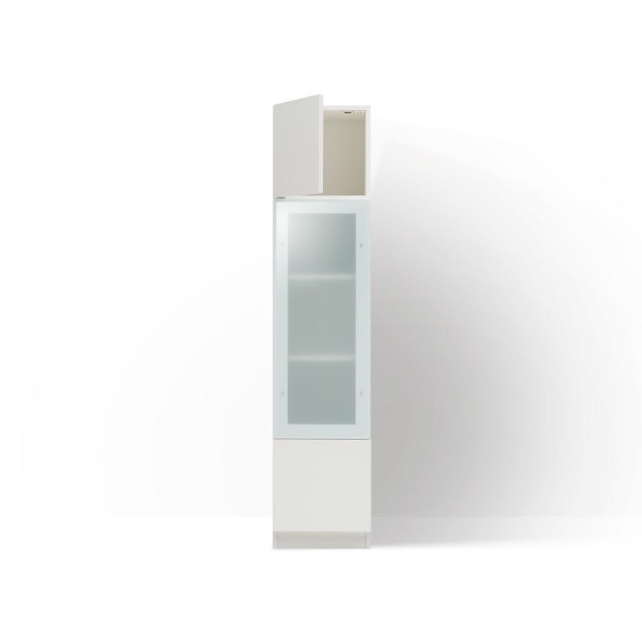 セミオーダー壁面収納 グラナー 幅40cm ガラス扉,木製扉付き 全14色