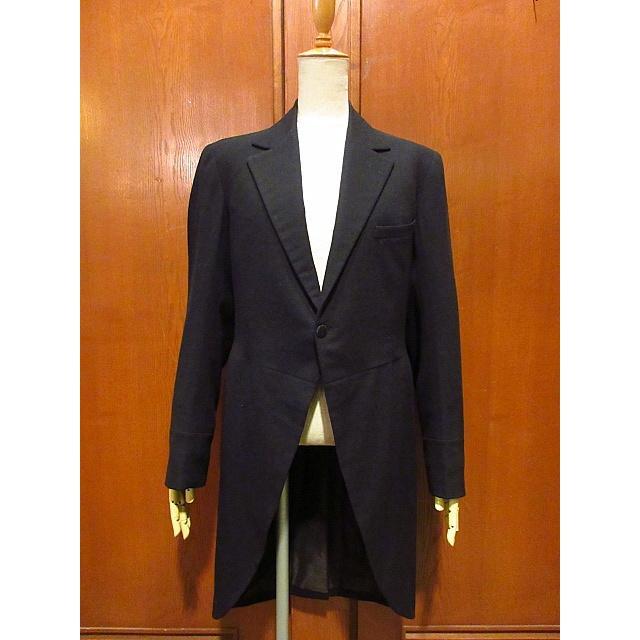 ビンテージ20's●DAVIS BRYAN & COモーニングコート黒●210224s5-m-ct 1920sメンズブラックフォーマルテーラードアンティーク|cozyvintage