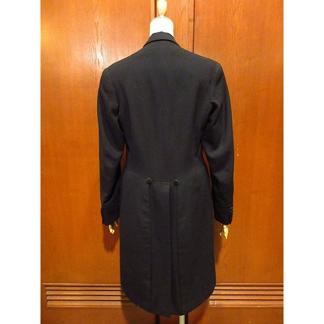 ビンテージ20's●DAVIS BRYAN & COモーニングコート黒●210224s5-m-ct 1920sメンズブラックフォーマルテーラードアンティーク|cozyvintage|02