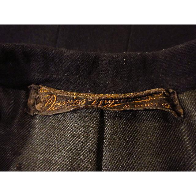 ビンテージ20's●DAVIS BRYAN & COモーニングコート黒●210224s5-m-ct 1920sメンズブラックフォーマルテーラードアンティーク|cozyvintage|06