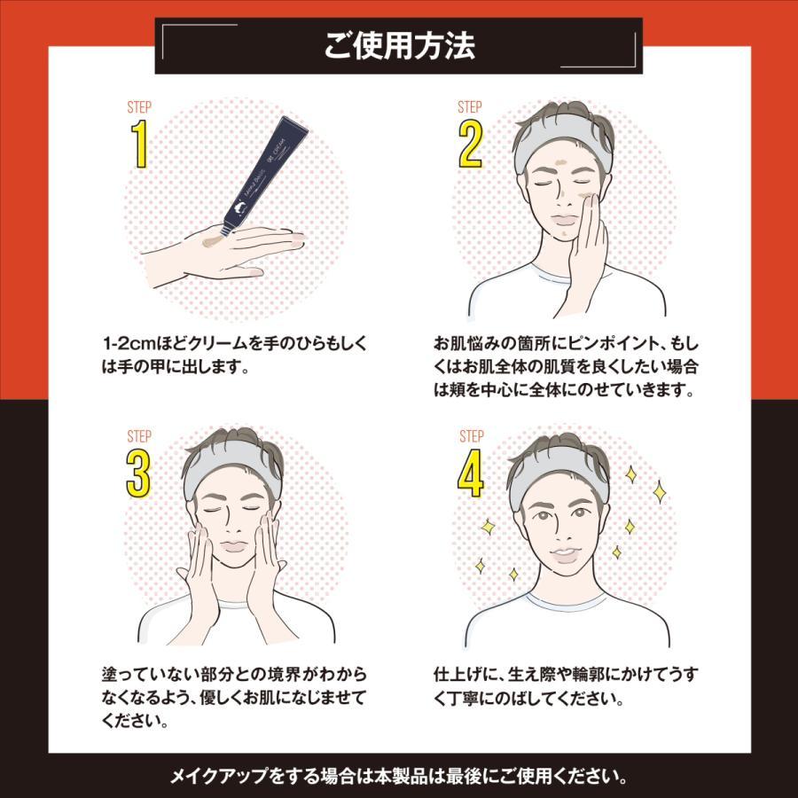 メンズBBクリーム バレない素肌感 メンズベーシック 日本産  シーアール・ラボ(CR-lab)  20g cr-lab 10