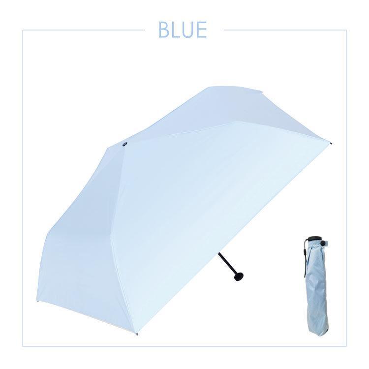 日傘 遮光 折りたたみ 晴雨兼用 おしゃれ 折りたたみ傘 軽量 UVカット 90% 紫外線カット スリム コンパクト ホワイト ブルー ピンク ブルー|cradlekobe|09