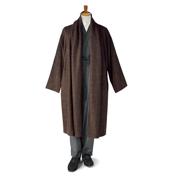 羽織コート HC-06 「風」 ブラウンツイード