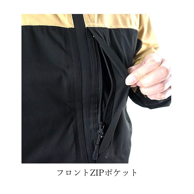 レインウェア 合羽 カッパ 雨具 ストレッチ ジャケット マウンテンパーカー ラムダ ロゴス LIPNER 28255 craftworks 07