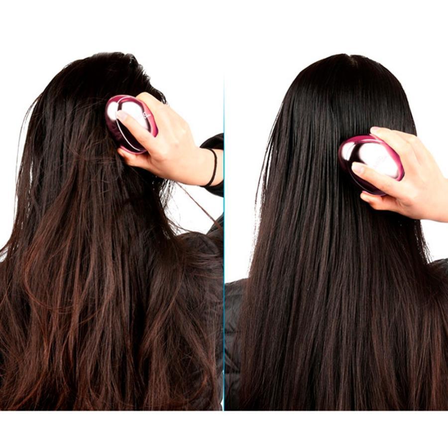 ヘアブラシ デタングルブラシ 絡まない サラサラ 濡れた髪 頭皮ケア 切れ毛防止 携帯 スカルプケア マジカルブラシ 美髪 艶髪 ヘアケア コンパクト 送料無料 cran 07