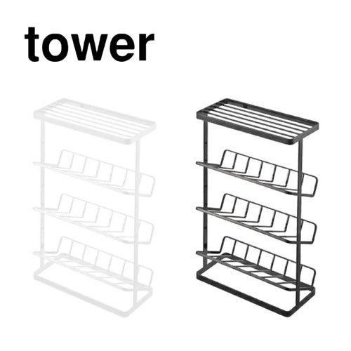 タワー tower バスボトルラック ホワイト 02909 ブラック 02910 シャンプーラック 3段 バスラック シャンプースタンド バス収納 山崎実業 YAMAZAKI|craseal