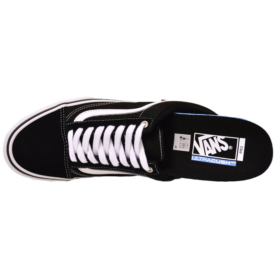 VANS old skool PRO BLACK / WHITE スニーカー バンズ オールドスクール スケボー スケートボード スケシュー スウェード|crass|06