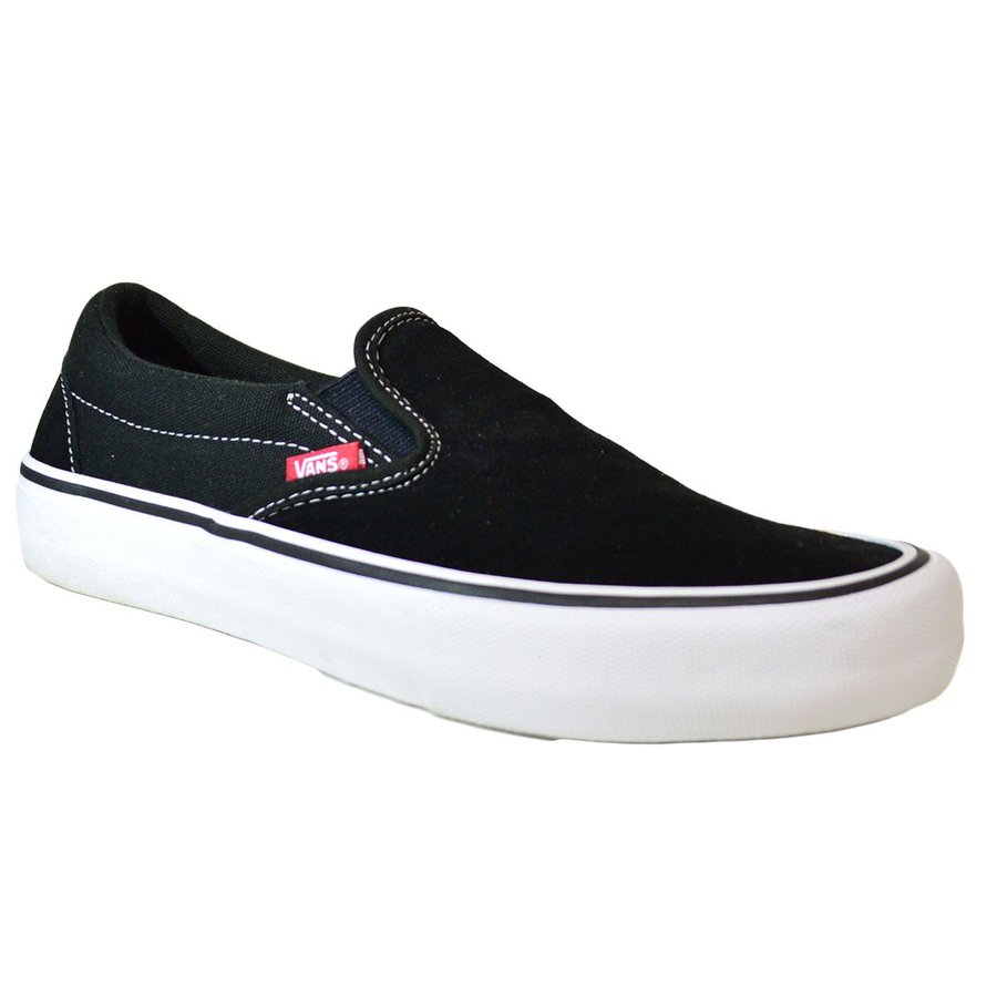 VANS SLIP ON PRO BLACK / WHITE スニーカー スリッポン バンズ  ヴァンズ 黒 / 白 スケボー メンズ スケシュー SK8 靴 crass 02