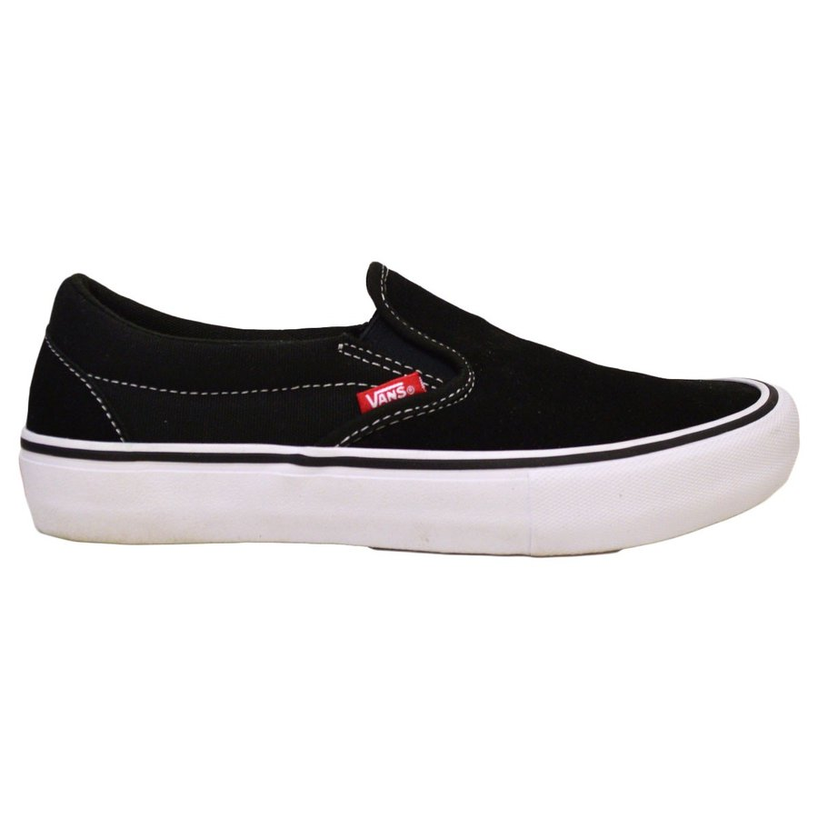 VANS SLIP ON PRO BLACK / WHITE スニーカー スリッポン バンズ  ヴァンズ 黒 / 白 スケボー メンズ スケシュー SK8 靴 crass 03