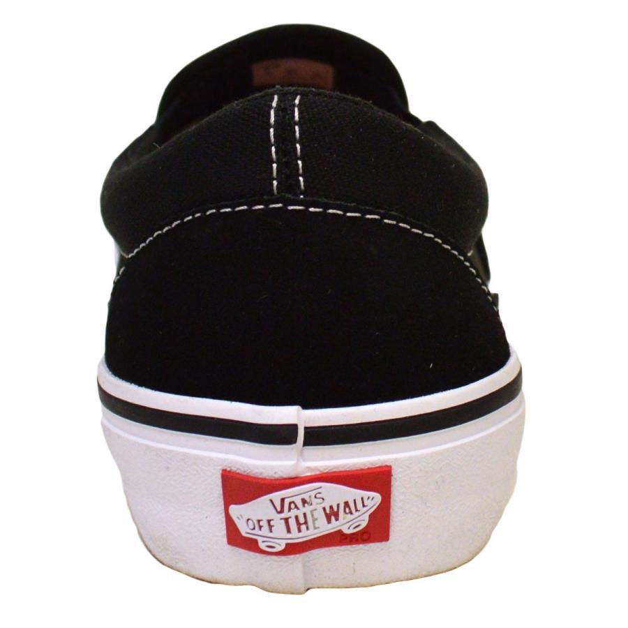VANS SLIP ON PRO BLACK / WHITE スニーカー スリッポン バンズ  ヴァンズ 黒 / 白 スケボー メンズ スケシュー SK8 靴 crass 04
