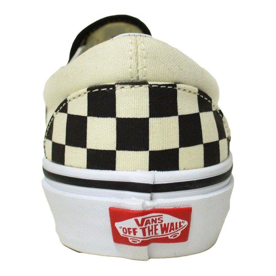 VANS スニーカー スリッポン バンズ オールドスクール classic SLIP ON CHECKEN WHITE スケボー レディース メンズ スケシュー|crass|03
