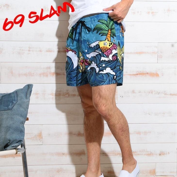 在庫処分セール!P15倍 水着 サーフパンツ メンズ ブランド サーフショーツ 海パン 正規品 ARQUARIUM ロックスラム 69SLAM