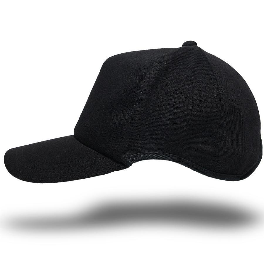大きいサイズ 帽子 スポーツキャップ ラウンドスウェットキャップ   オールブラック黒 ランニングキャップ BIGWATCH