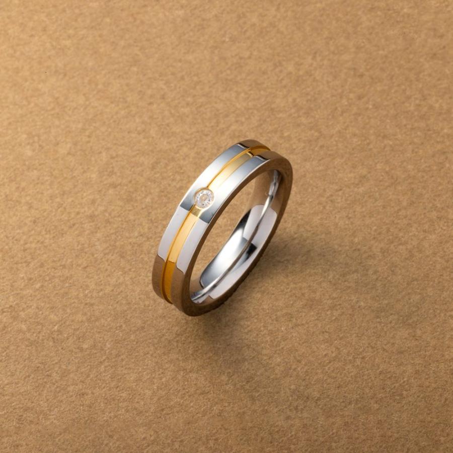 ステンレス製 リング 結婚祝い 指輪 ペアリング 激安通販 低アレルギー レディース ビジュー 大人 ライン 大きいサイズ ゆうパケット送料無料 メンズ