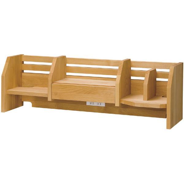ロー上棚のみ 日本製 日本製 自然風塗料 木の温もりと環境に優しい学習デスク♪ 健康家具 シリーズ専用 t003-m054-wdy-lue