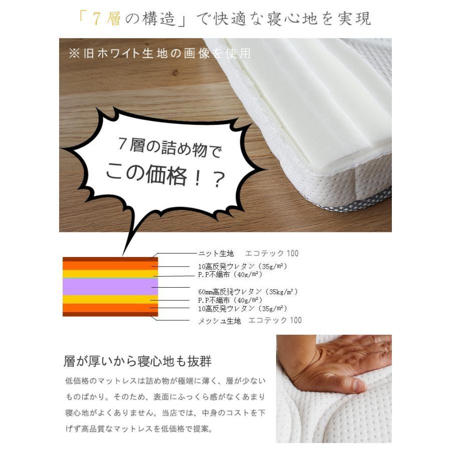 腰痛 対策 マットレス シングル 3分割式  高反発ウレタンマット 密度35D 7層 10cm メッシュ|crescent|03