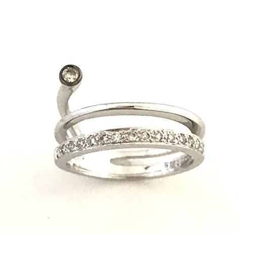 衝撃特価 重ね付け デザイン (6) ダイヤモンド デザイン ピンキー リング K18WG レディース 指輪 指輪 (6), ミカミオンラインショップ:cc404532 --- airmodconsu.dominiotemporario.com