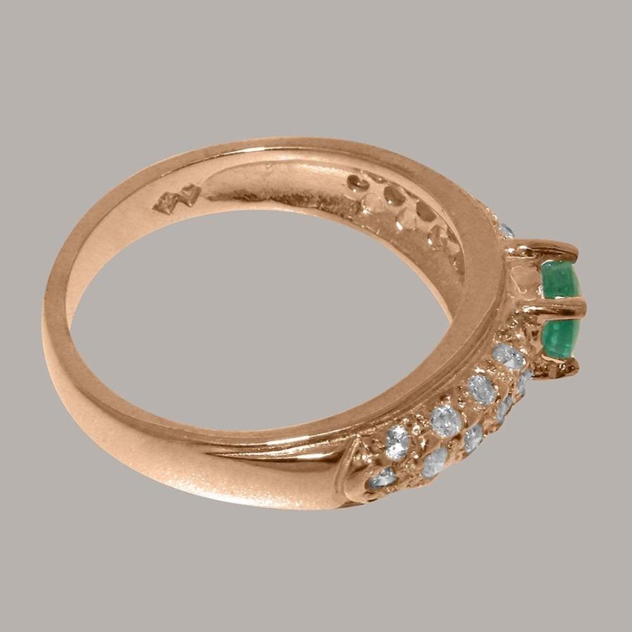 【海外輸入】 英国製(イギリス製) K10 ピンクゴールド 天然 各種 エメラルドキュービックジルコニア レディース K10 リング 指輪 あり 各種 サイズ あり, アイカワマチ:bf662523 --- chizeng.com