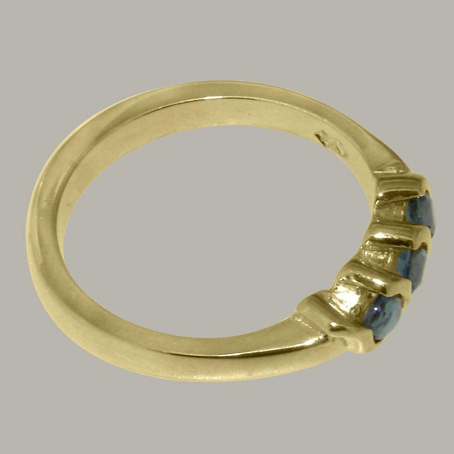 熱販売 英国製(イギリス製) K14 イエローゴールド 天然 ロンドン・ブルートパーズ レディース リング 指輪 各種 サイズ あり, 熊山町 cb9538e5