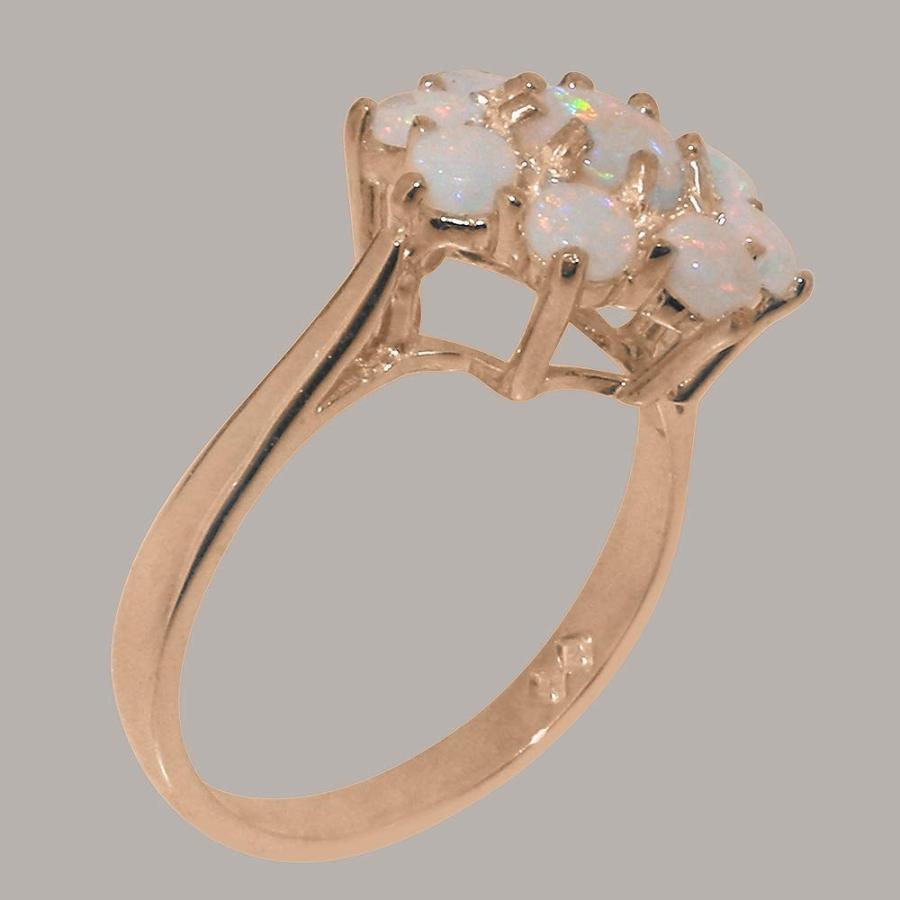 【高価値】 英国製(イギリス製) K18 ピンクゴールド 天然 オパール レディースー クラスター リング 指輪 各種 サイズ あり, 犬猫用サプリrashiku-rashiku 5a5d4eea