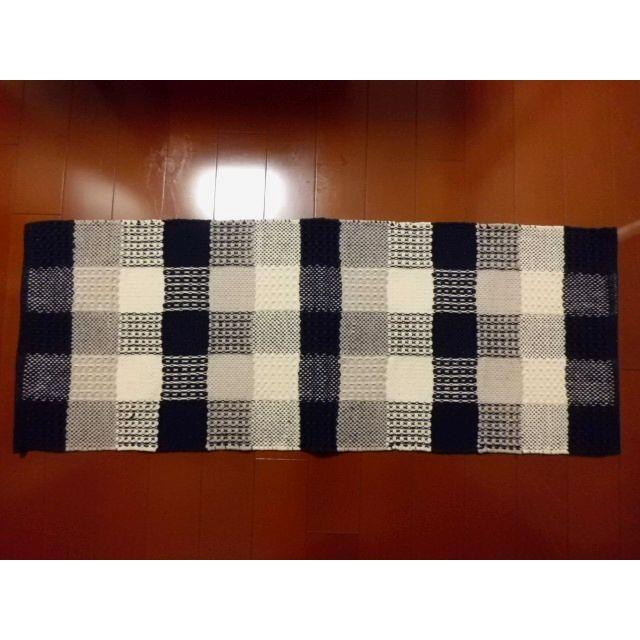 キッチンマットKAMER(カームル)ブルー 45×120cm|crococko