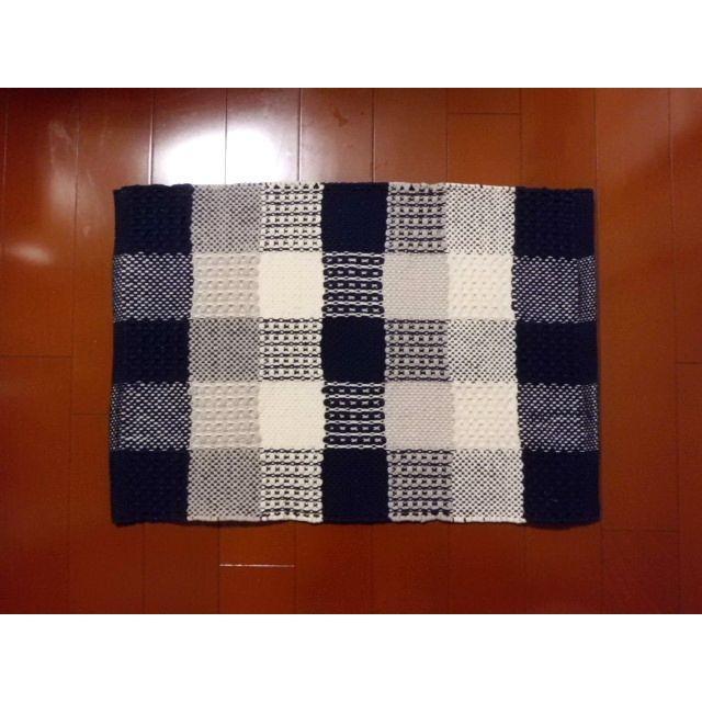 フロアマットKAMER(カームル)ブルー 45×65cm|crococko