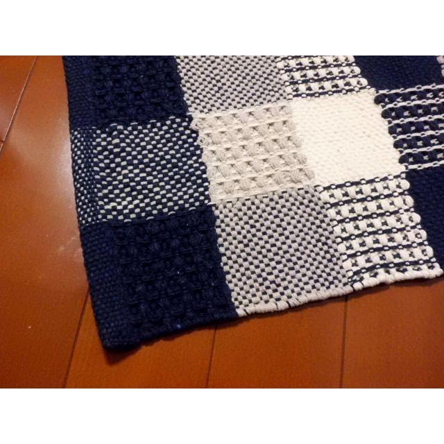 フロアマットKAMER(カームル)ブルー 45×65cm|crococko|02