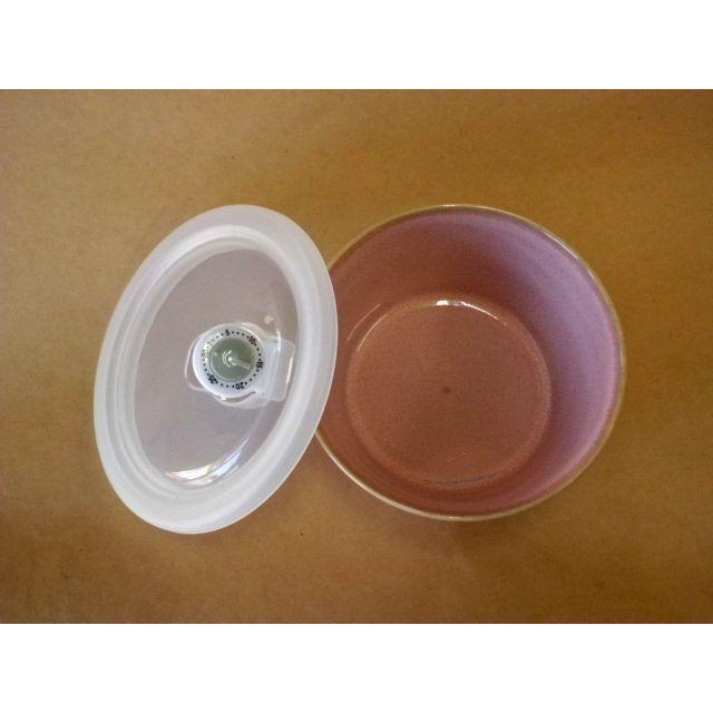 ナチュラルカラー パック鉢中(ピンク) 蓋つき保存容器  crococko 03