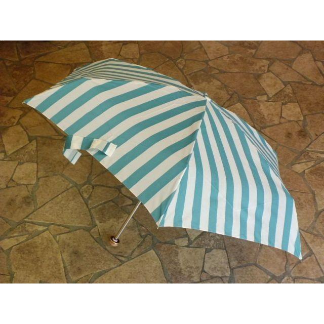 ユースフル ストライプ折りたたみ雨傘(グリーン) crococko