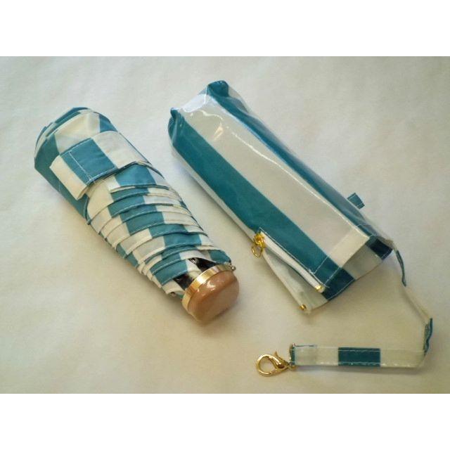 ユースフル ストライプ折りたたみ雨傘(グリーン) crococko 03