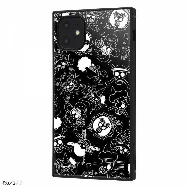 iPhone 11 耐衝撃ケース ワンピース 海賊旗マーク ハイブリッドカバー KAKU スクエア 四角 キャラ おしゃれ カッコイイ イングレム IQ-OP21K3TB-OP004|cross-road