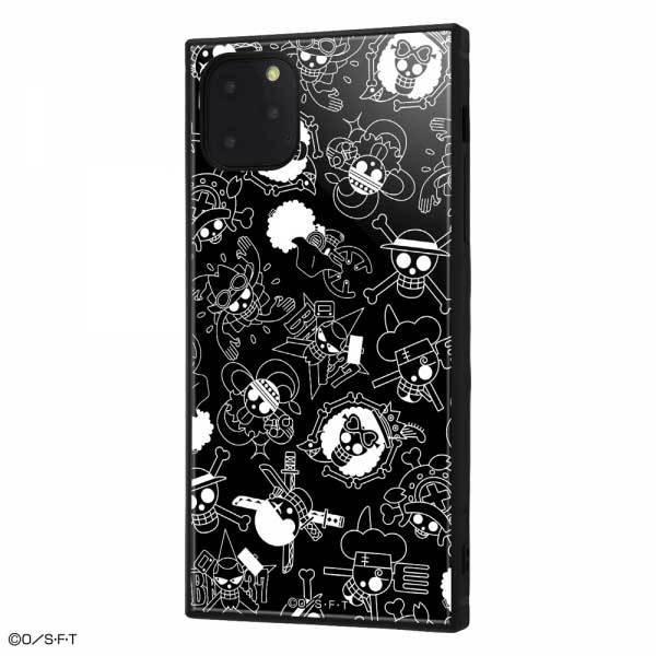 iPhone 11 ProMax 耐衝撃ケース ワンピース 海賊旗マーク ハイブリッドカバー KAKU スクエア 四角 キャラ おしゃれ カッコイイ イングレム IQ-OP22K3TB-OP004|cross-road