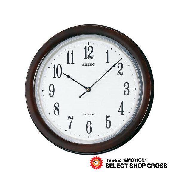 お取寄せ セイコー クロック SEIKO CLOCK 電波 時計 掛時計 SF504B ブラウン ポイント消化