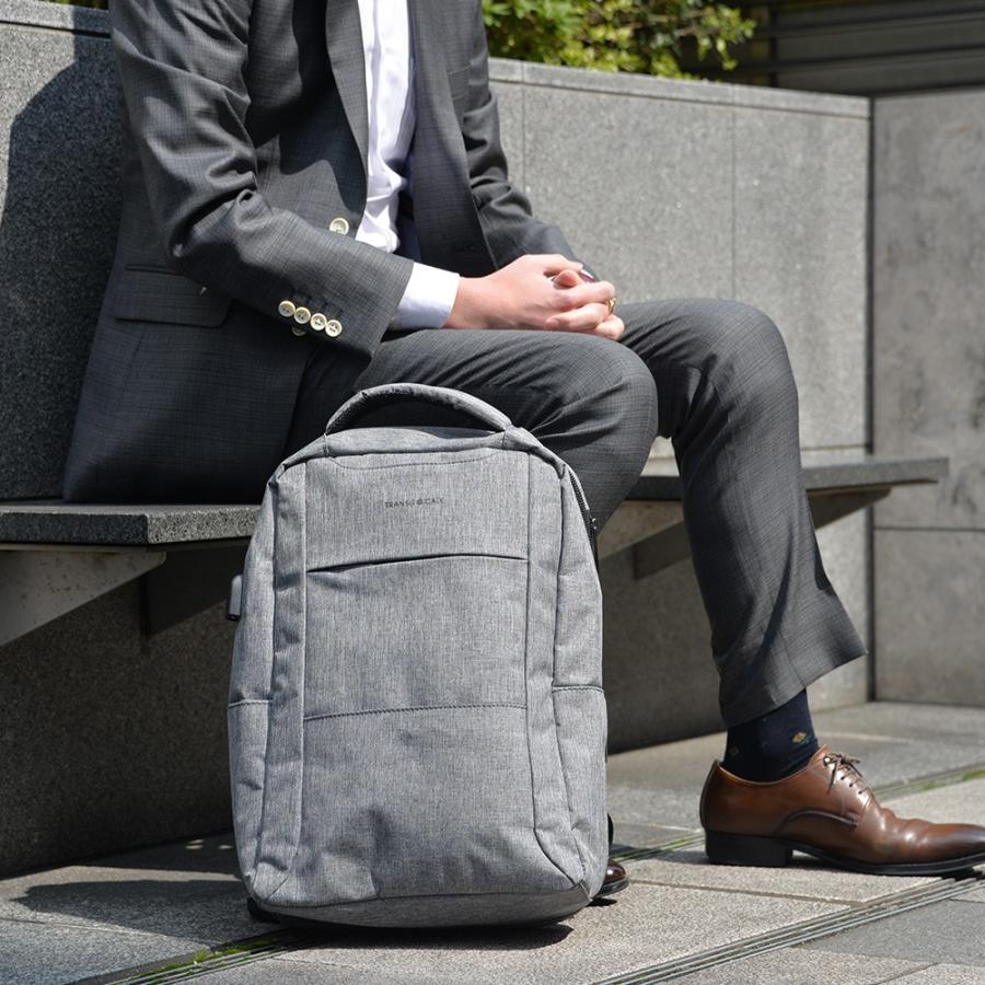 ビジネスリュック メンズ リュックサック バックパック おしゃれ A4 かばん 通勤 通学 ナイロン 軽量 ブラック 黒 バッグ 新生活|crosscharm|13