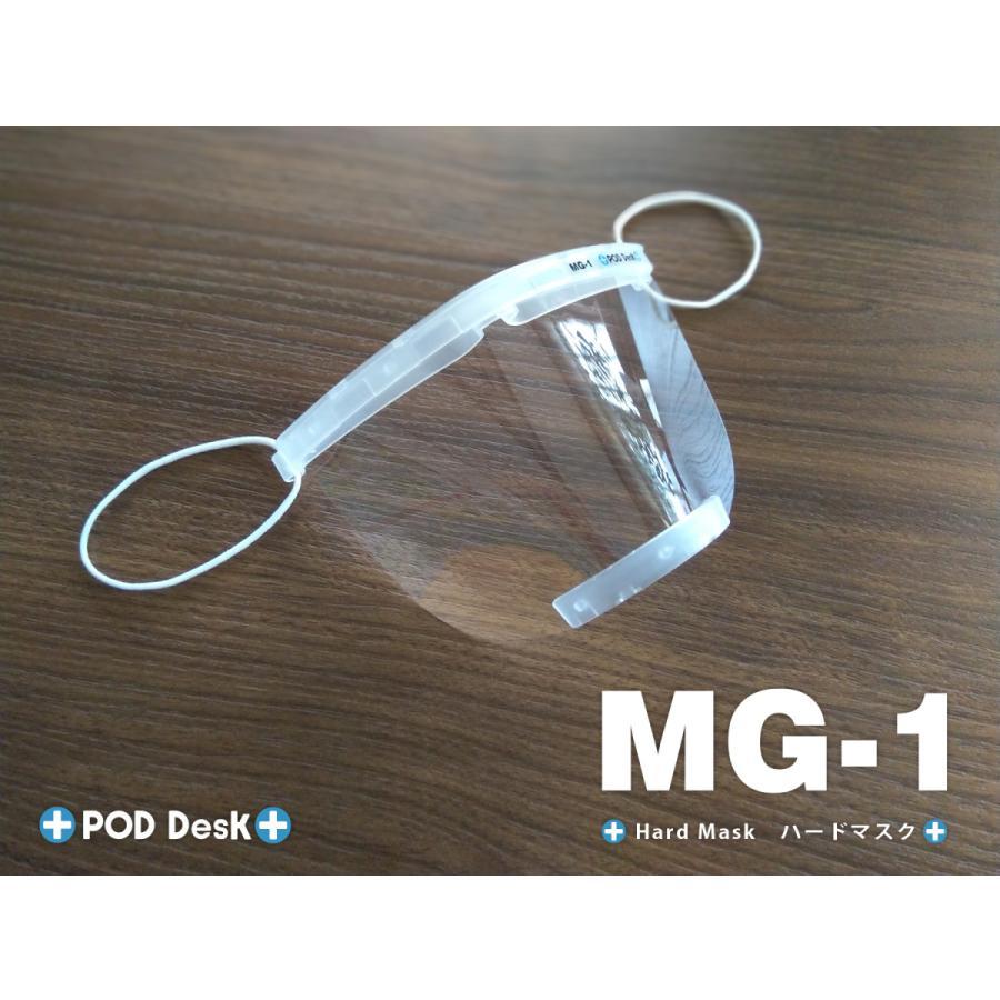 フィルム式マスク 「ハードマスク MG-1」(シールドフィルム3セット入) マウスシールド(上方向にもシールド)|crosspod|02